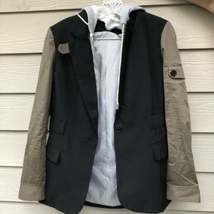 Two-in-One Blazer Hoodie